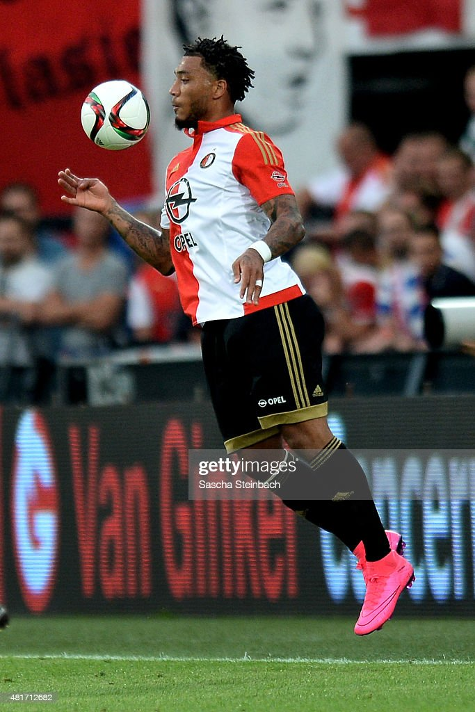 <a gi-track='captionPersonalityLinkClicked' href=/galleries/search?phrase=Colin+Kazim-Richards&family=editorial&specificpeople=684189 ng-click='$event.stopPropagation()'>Colin Kazim-Richards</a> of Feyenoord controls the ball during the pre season friendly match between Feyenoord Rotterdam and Southampton FC at De Kuip on July 23, 2015 in Rotterdam, Netherlands.