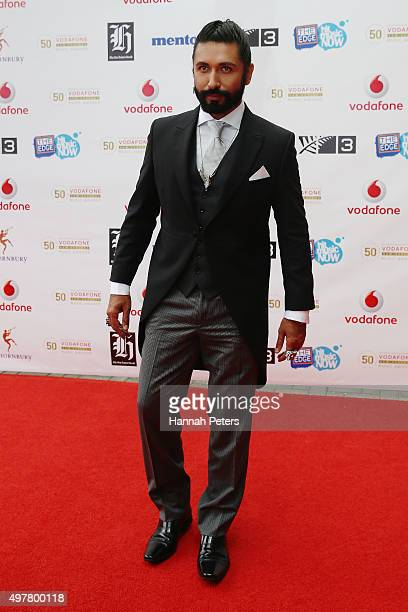 Colin MathuraJeffree poses for a photo on the red carpet at the Vodafone New Zealand Music Awards at Vector Arena on November 19 2015 in Auckland New...