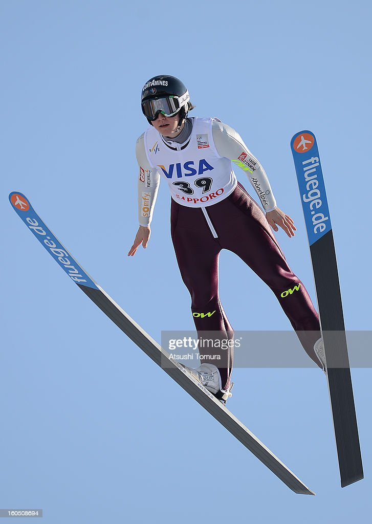 Colin Mattel of France in action during day one of the FIS Women's Ski Jumping World Cup at Miyanomori Jump Stadium on February 2, 2013 in Sapporo, Japan.