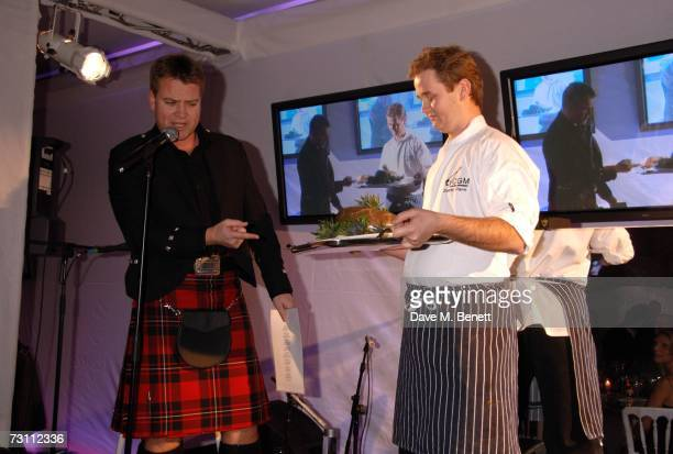Colin McGregor attends the Burns Night Party in aid of Clic Sargent and Children's Hospice Association Scotland at St Martins Lane Hotel on January...