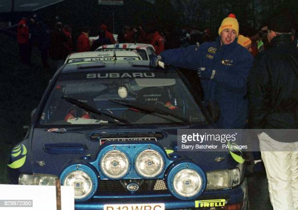 Colin McRae of the 555 Subaru World Rally Team at the Builth Wells service area today on the second day of the Network Q RAC Rally Photo Barry...