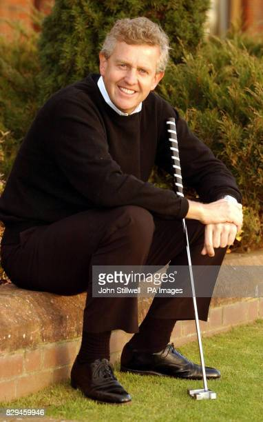 Colin Montgomerie a member of this years victorious Ryder cup golf team celebrates his award of an OBE