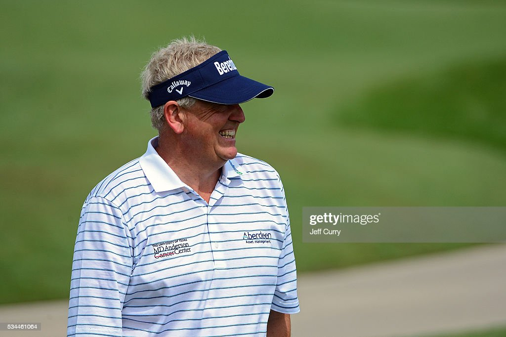 <a gi-track='captionPersonalityLinkClicked' href=/galleries/search?phrase=Colin+Montgomerie&family=editorial&specificpeople=157549 ng-click='$event.stopPropagation()'>Colin Montgomerie</a> of Scotland looks on as he walks to the ninth green during the first round 2016 Senior PGA Championship presented by KitchenAid at the Golf Club at Harbor Shores on May 26, 2016 in Benton Harbor, Michigan.