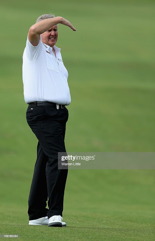 Colin Montgomerie of Scotland looks on during the Pro-Am for the Volvo Golf Champions at Durban Country Club on January 9, 2013 in Durban, South Africa.