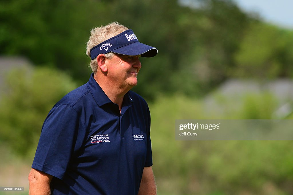 <a gi-track='captionPersonalityLinkClicked' href=/galleries/search?phrase=Colin+Montgomerie&family=editorial&specificpeople=157549 ng-click='$event.stopPropagation()'>Colin Montgomerie</a> of Scotland smiles as he walks off the 18th green during the third round of the 2016 Senior PGA Championship presented by KitchenAid at the Golf Club at Harbor Shores on May 28, 2016 in Benton Harbor, Michigan.