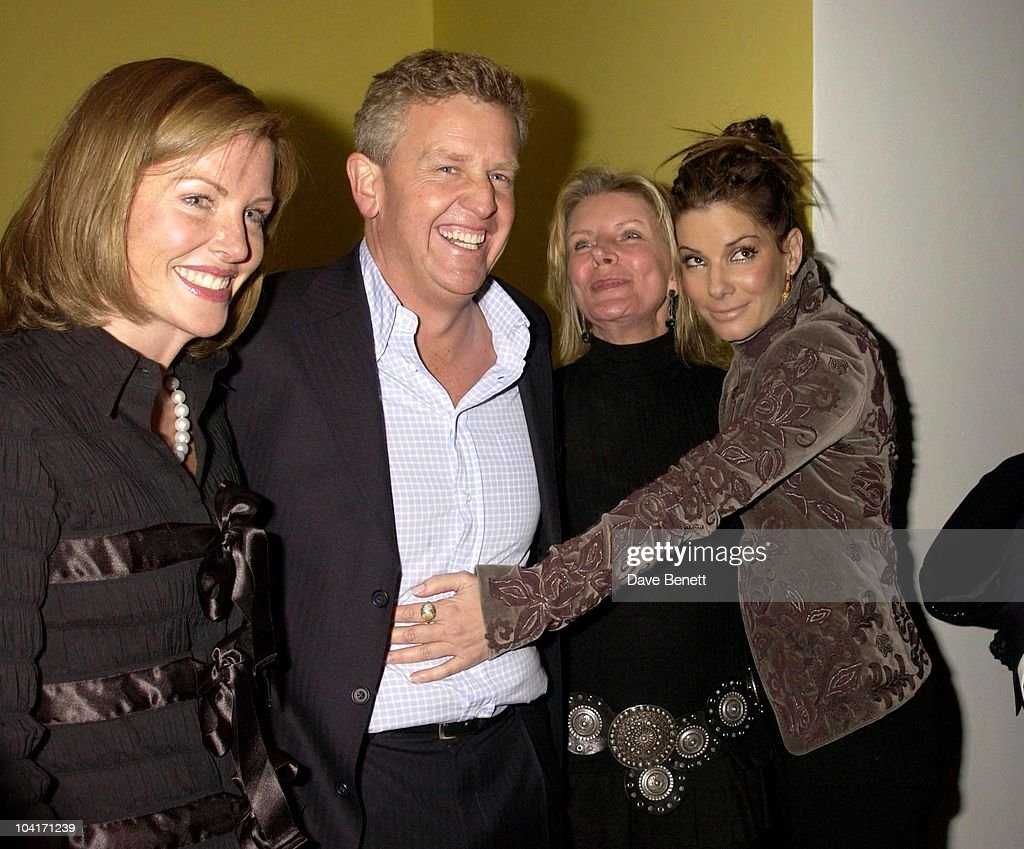 Colin Montgomerie & Wife With Sandra Bullock, 'Two Weeks Notice' Movie Premiere At The, Warner West End London