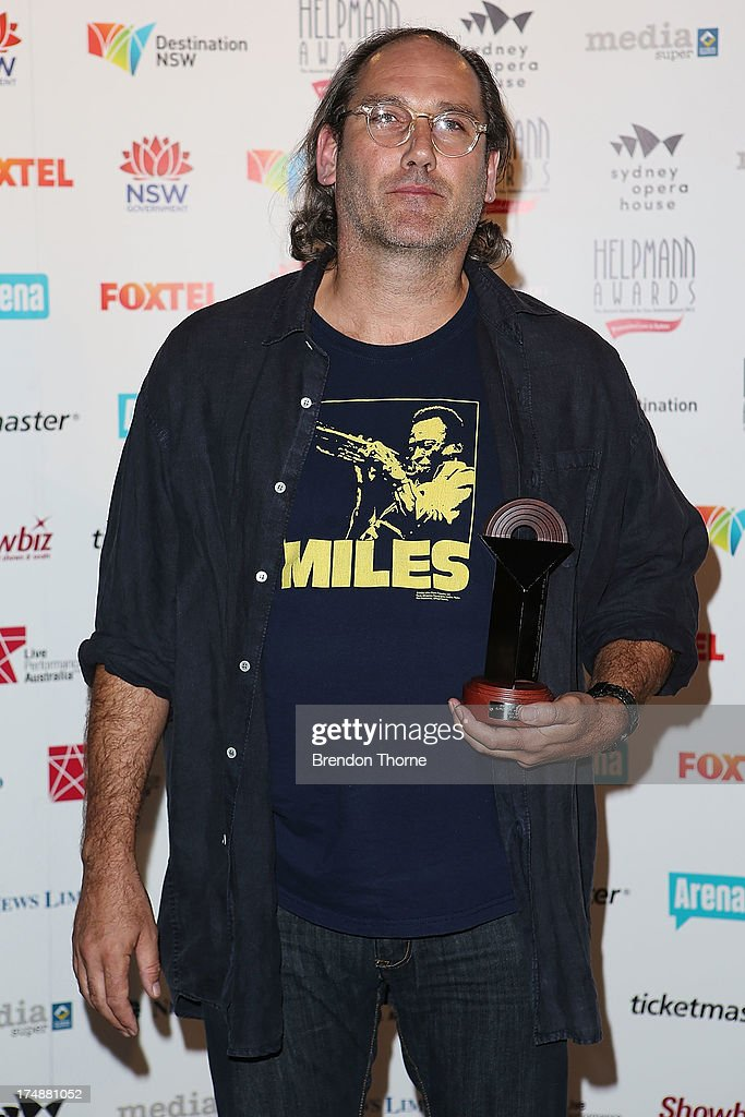 Colin Moody poses with the award for Best Male Actor in a Supporting Role in a Play at the 2013 Helpmann Awards at the Sydney Opera House on July 29, 2013 in Sydney, Australia.