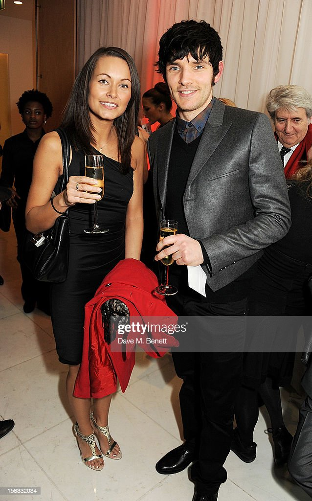 Colin Morgan (R) attends the English National Ballet Christmas Party at St Martins Lane Hotel on December 13, 2012 in London, England.