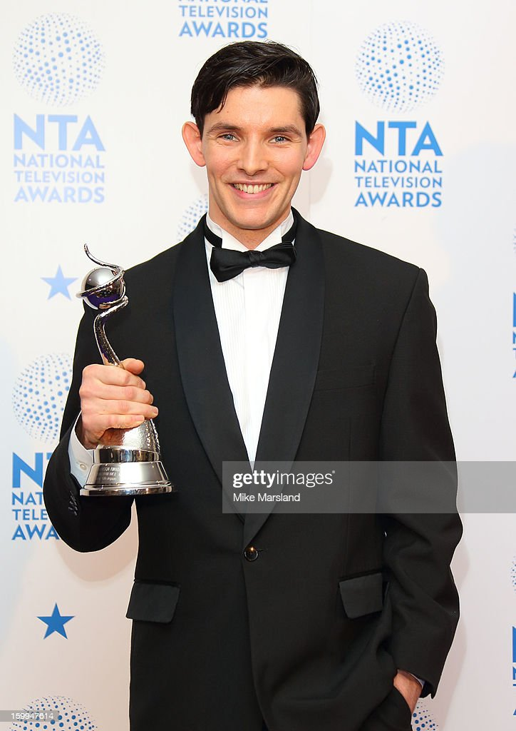 Colin Morgan poses in the winners room at the National Television Awards at 02 Arena on January 23, 2013 in London, England.