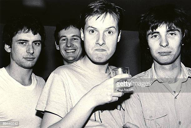 Colin Moulding Dave Gregory Andy Partridge and Terry Chambers of XTC on 2/8/80 in Chicago Il