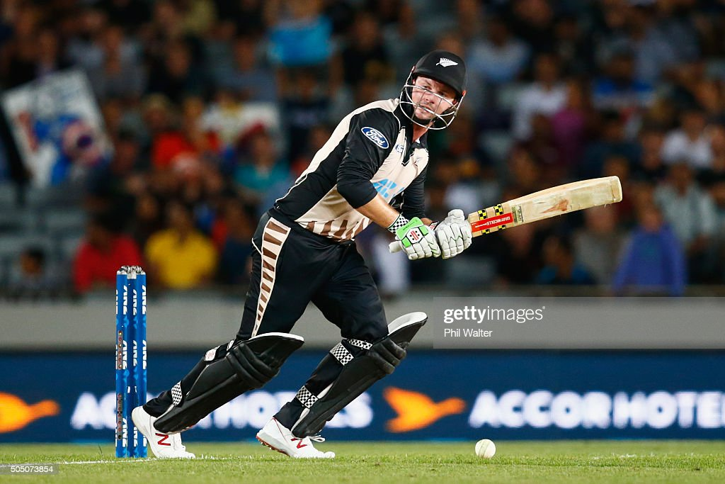 <a gi-track='captionPersonalityLinkClicked' href=/galleries/search?phrase=Colin+Munro&family=editorial&specificpeople=5037359 ng-click='$event.stopPropagation()'>Colin Munro</a> of New Zealand bats during the first T20 match between New Zealand and Pakistan at Eden Park on January 15, 2016 in Auckland, New Zealand.