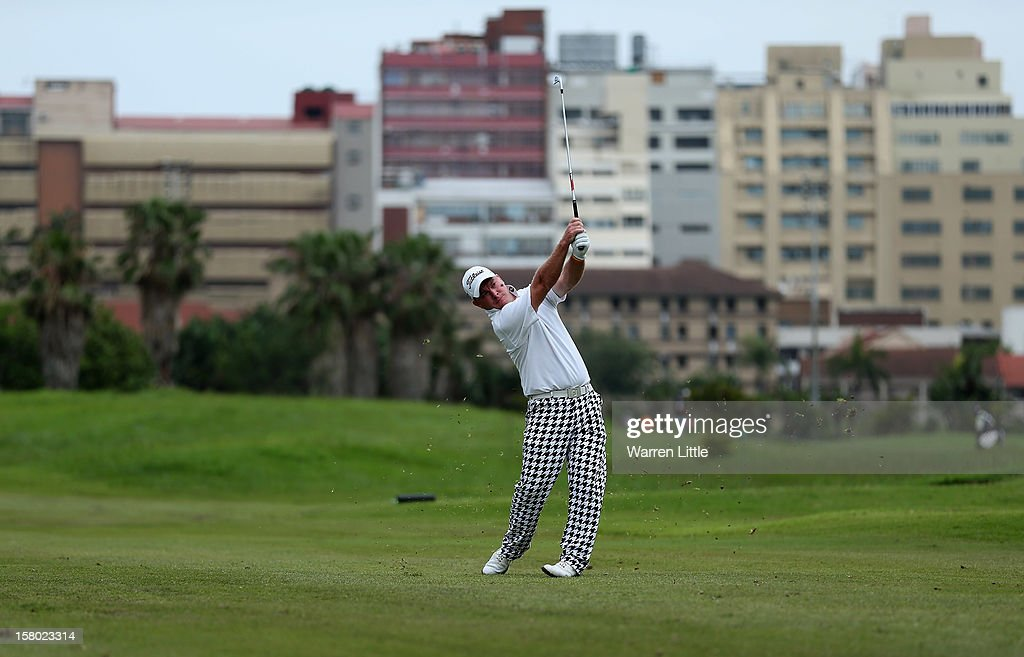 Colin Nel of South Africa in action during the second round of The Nelson Mandela Championship presented by ISPS Handa at Royal Durban Golf Club on December 9, 2012 in Durban, South Africa.