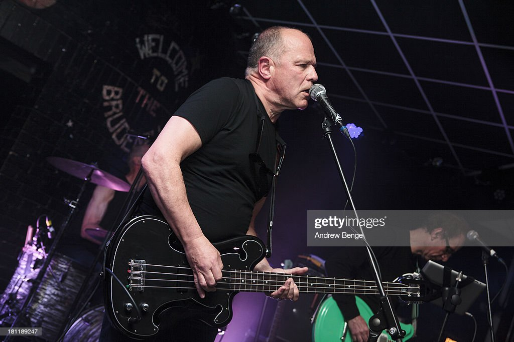 Colin Newman and Graham Lewis of Wire perform on stage at Brudenell Social Club on September 19, 2013 in Leeds, England.