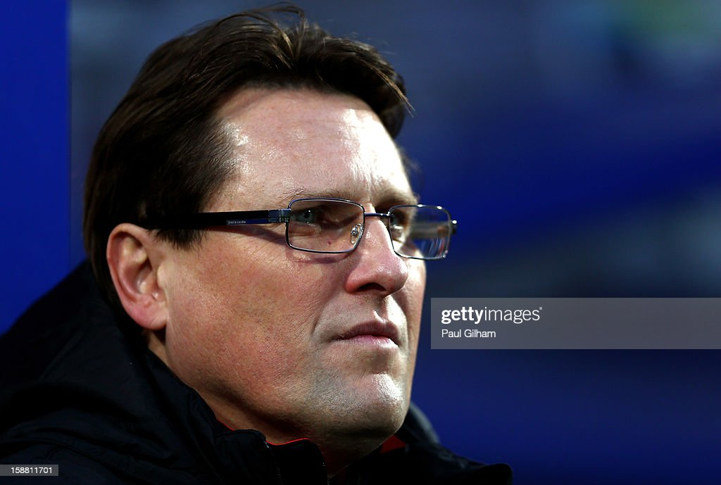 Colin Pascoe the Liverpool assistant manager looks on during the Barclays Premier League match between Queens Park Rangers and Liverpool at Loftus Road on December 30, 2012 in London, England.
