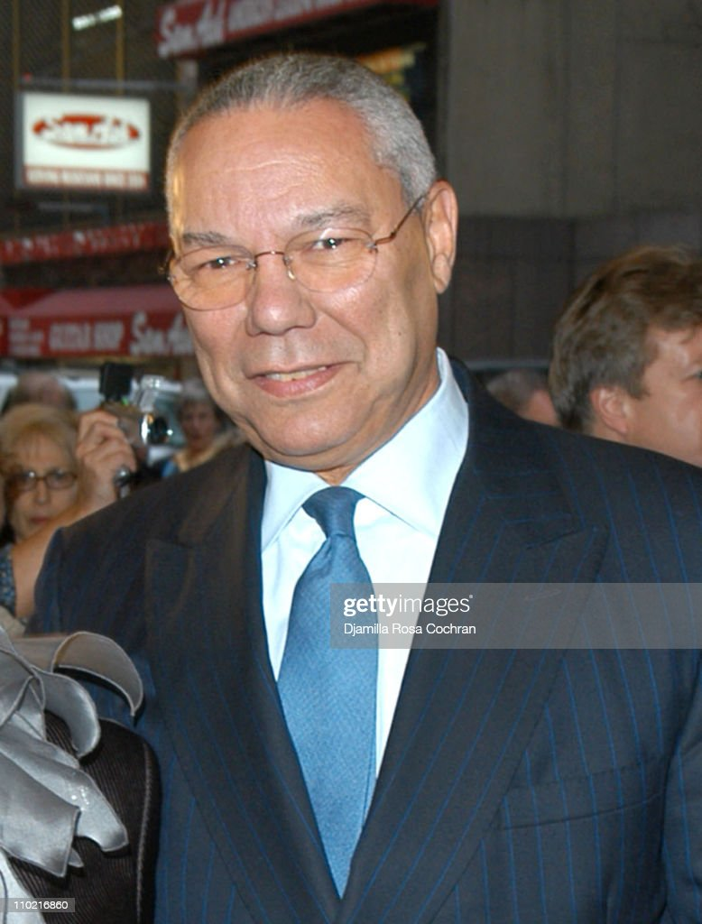<a gi-track='captionPersonalityLinkClicked' href=/galleries/search?phrase=Colin+Powell&family=editorial&specificpeople=118599 ng-click='$event.stopPropagation()'>Colin Powell</a> during 'On Golden Pond' Opening Night on Broadway - Arrivals at The Cort Theatre in New York City, New York, United States.