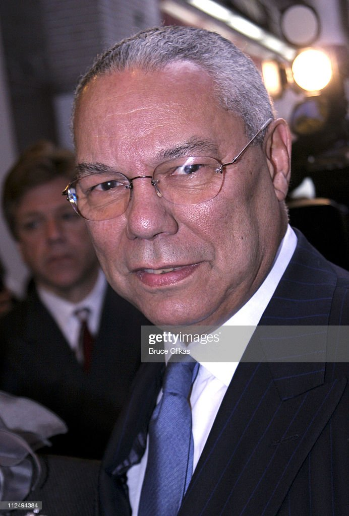 <a gi-track='captionPersonalityLinkClicked' href=/galleries/search?phrase=Colin+Powell&family=editorial&specificpeople=118599 ng-click='$event.stopPropagation()'>Colin Powell</a> during 'On Golden Pond' Opening Night on Broadway - Arrivals at The Cort Theater in New York City, New York, United States.