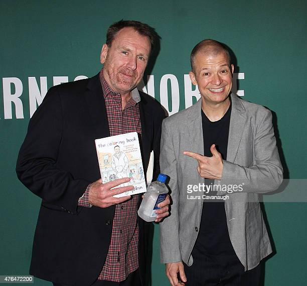 Colin Quinn And Jim Norton At Book Signing For Quinns The Coloring