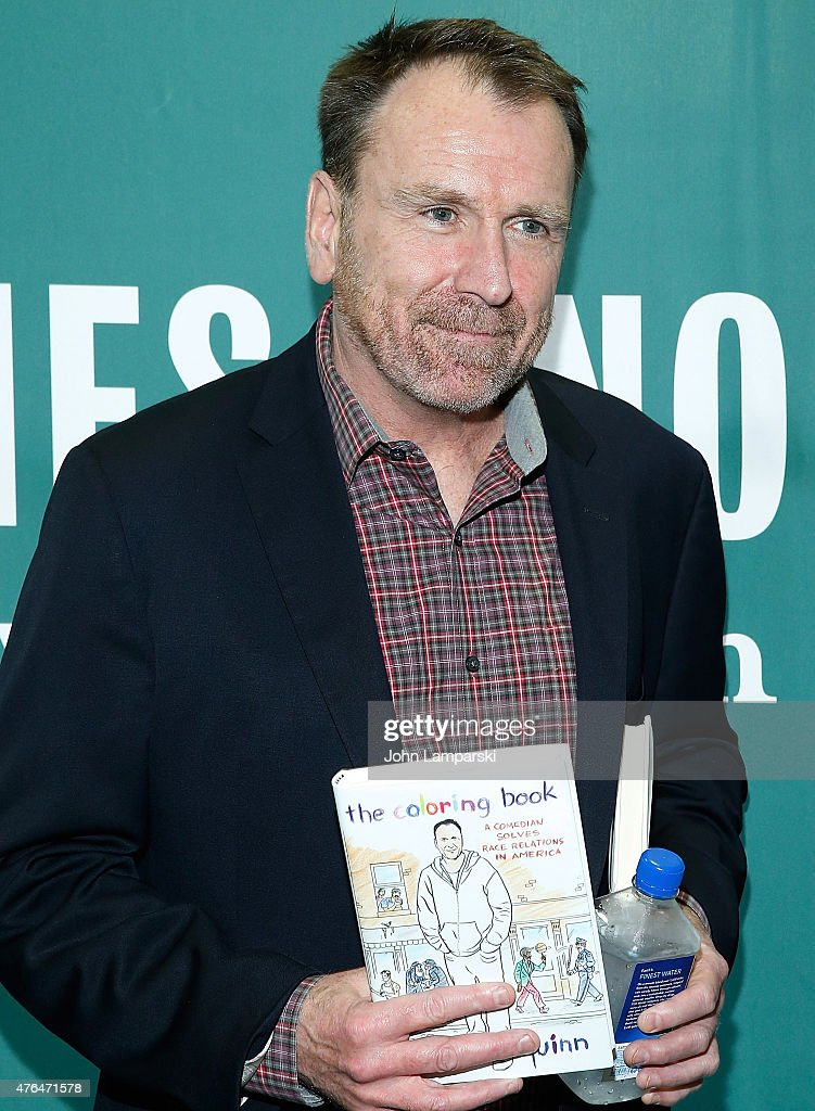 Colin Quinn Signs Copies Of His Book The Coloring A Comedian Solves Race
