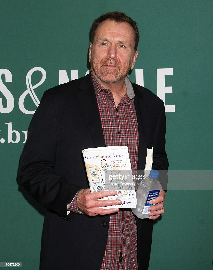 Coloring book quinn - Colin Quinn Signs Copies Of His Book The Coloring Book A Comedian Solves Race