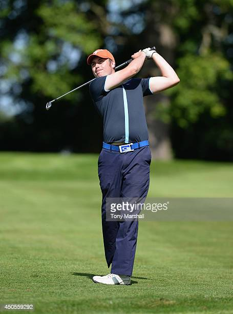 Colin Robinson of Elie Sports Centre plays his second shot on the 1st fairway during the final round of the Powerade PGA Assistants' Championship...