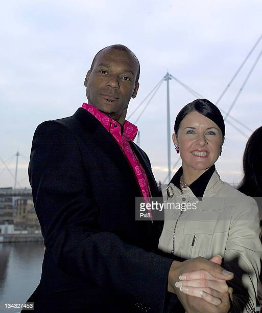 Colin Salmon and Anton Du Beke during The Big Sunday February 5 2006 at ExCel London Docklands in London Great Britain