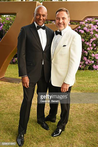 Colin Salmon and David Walliams attend the Duke of Edinburgh Award 60th Anniversary Diamonds are Forever Gala at Stoke Park on June 9 2016 in...