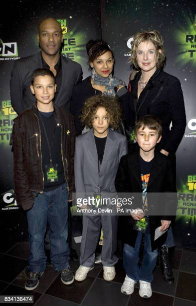 Colin Salmon and family arrive for the premiere of 'Ben 10 Race Against Time' at the Vue in Leicester Square London