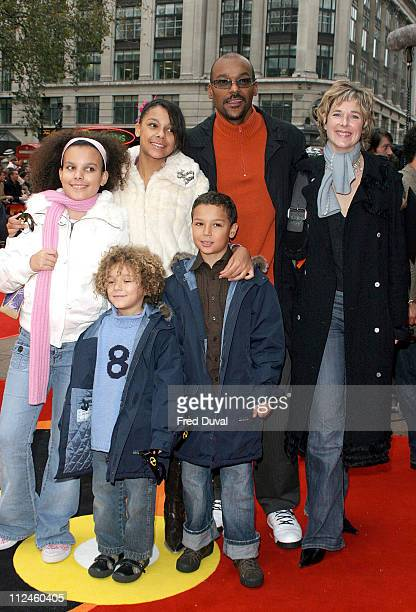 Colin Salmon and family during 'The Incredibles' London Premiere at Empire Leicester Square in London United Kingdom