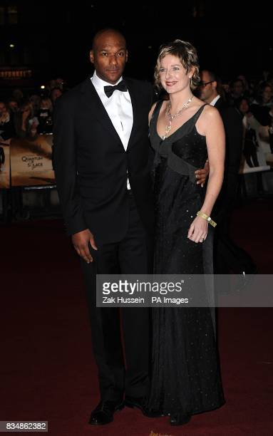 Colin Salmon and his wife Fiona arrive for the World premiere of 'Quantum Of Solace' at the Odeon Leicester Square WC2