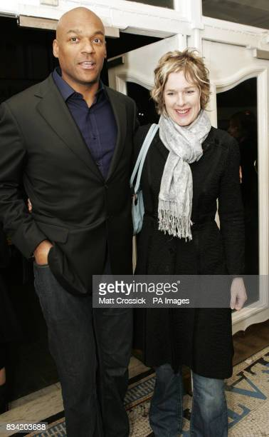 Colin Salmon and his wife Fiona Hawthorne arrive for a special screening of Fade To Black at The Electric Cinema in west London