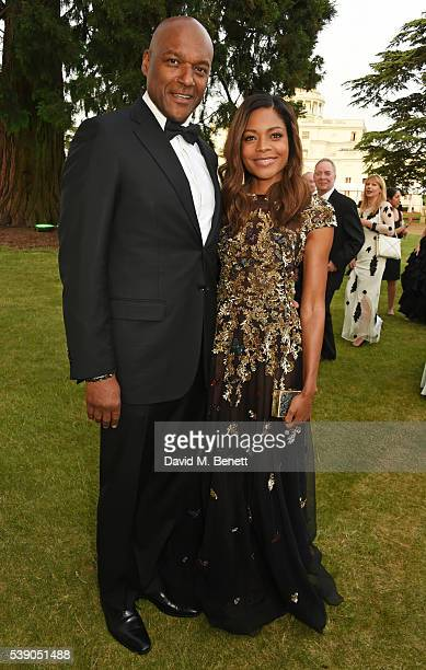 Colin Salmon and Naomie Harris attend the Duke of Edinburgh Award 60th Anniversary Diamonds are Forever Gala at Stoke Park on June 9 2016 in...