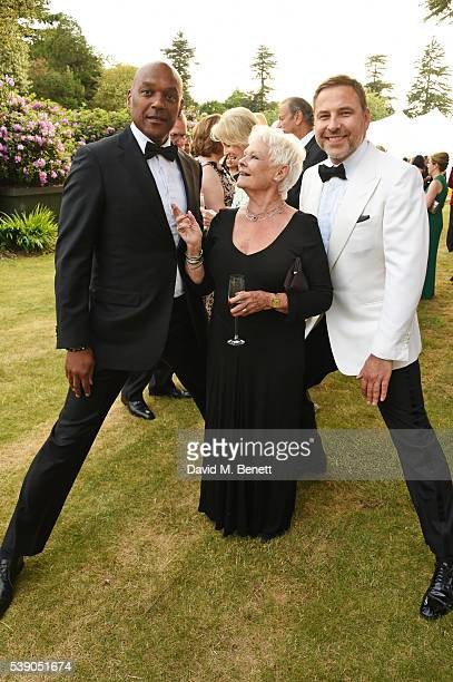 Colin Salmon Dame Judi Dench and David Walliams attend the Duke of Edinburgh Award 60th Anniversary Diamonds are Forever Gala at Stoke Park on June 9...