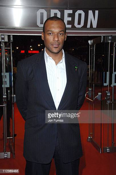 Colin Salmon during 'Blood Diamond' London Premiere Inside Arrivals at Odeon Leicester Square in London Great Britain