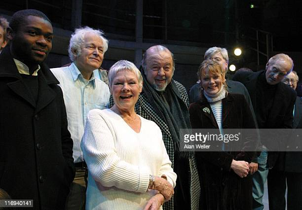 Colin Salmon Michael Pennington Judi Dench Sir Peter Hall Samantha Bond and Charles Dance