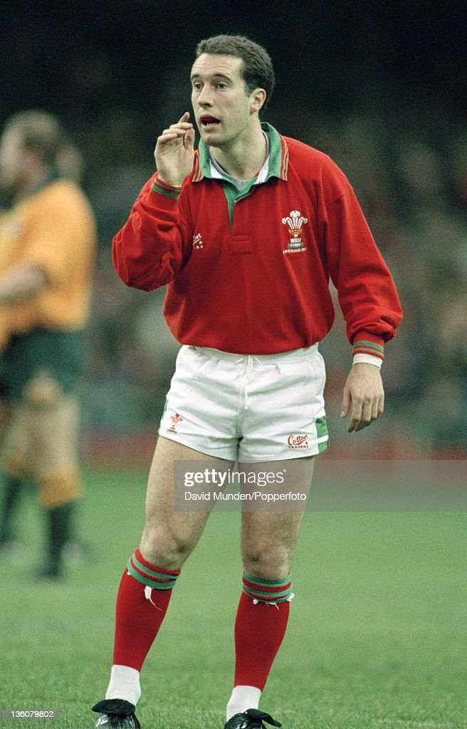 Colin Stephens in action for Wales during the Rugby Union International against Australia at Cardiff Arms Park on the 21st November 1992. Australia won the match 23-6.