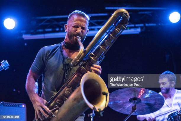 Colin Stetson of Ex Eye performs at the Ottobar in Baltimore