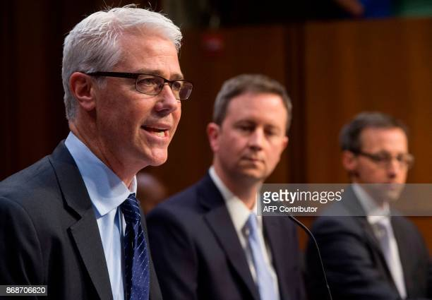 Colin Stretch General Counsel of Facebook Sean Edgett Acting General Counsel of Twitter and Richard Salgado Director of Law Enforcement And...