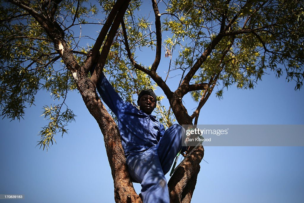 Colin Tenda Tshivhuya, 32, a gardener from Soweto poses for a portrait while cutting a tree down in a parking lot on June 14, 2013 in Johannesburg, South Africa. Speaking of Nelson Mandela Mr Tshivhuya said, 'He means a lot, he is a freedom fighter. I hope he recovers soon'. The former South African President and leader of the anti-apartheid movement has spent over a week in hospital after being admitted for a recurring lung infection.