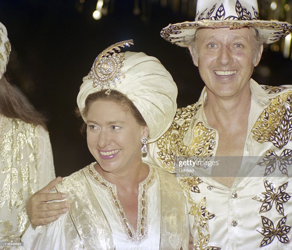 Colin Tennant And Princess Margaret At Gold Themed 50th Birthday Party Of Hon