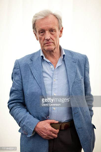 Colin Thubron travel writer and novelist poses for a portrait at the Oxford Literary Festival on April 2 2011 in Oxford England