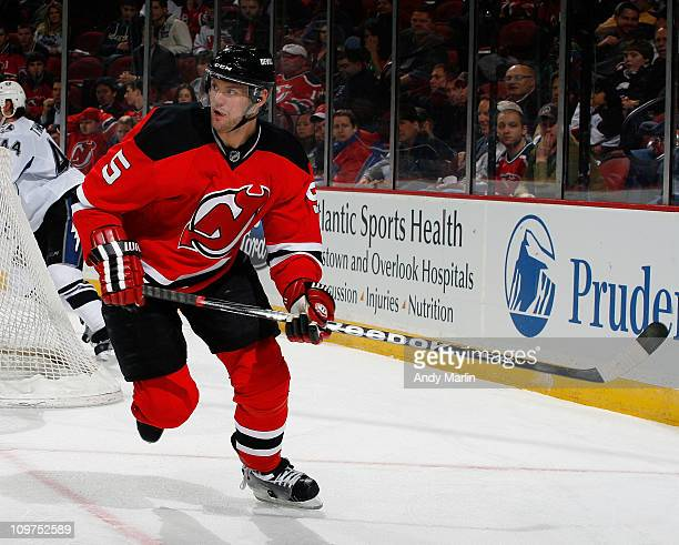 Colin White of the New Jersey Devils skates against the Tampa Bay Lightning during the game at the Prudential Center on March 2 2011 in Newark New...