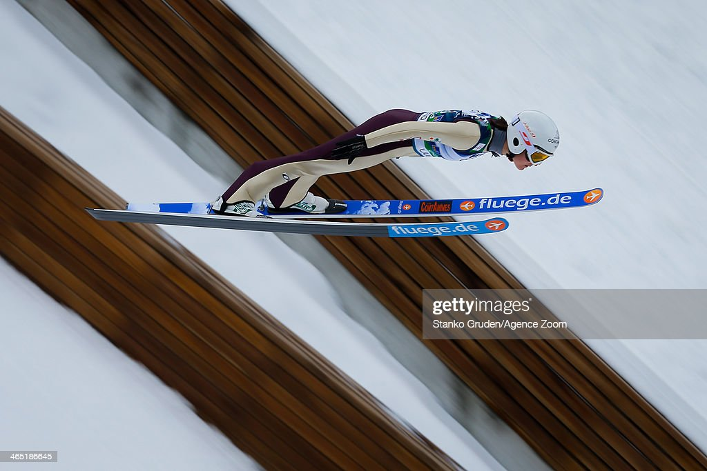 <a gi-track='captionPersonalityLinkClicked' href=/galleries/search?phrase=Coline+Mattel&family=editorial&specificpeople=5719079 ng-click='$event.stopPropagation()'>Coline Mattel</a> of France competes during the FIS Ski Jumping World Cup Women's HS95 on January 26, 2014 in Planica, Slovenia.