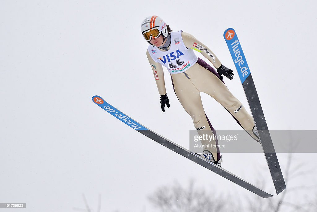 <a gi-track='captionPersonalityLinkClicked' href=/galleries/search?phrase=Coline+Mattel&family=editorial&specificpeople=5719079 ng-click='$event.stopPropagation()'>Coline Mattel</a> of France competes in the normal hill individual during the FIS Women's Ski Jumping World Cup Sapporo at Miyanomori Ski Jump Stadium on January 11, 2014 in Sapporo, Japan.