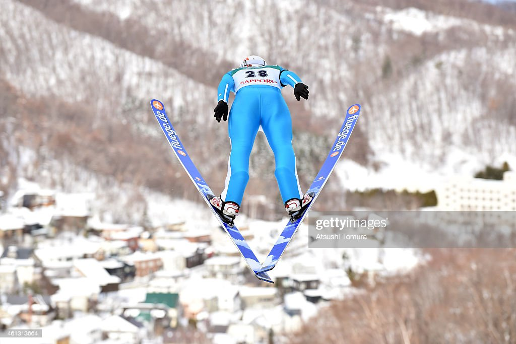 <a gi-track='captionPersonalityLinkClicked' href=/galleries/search?phrase=Coline+Mattel&family=editorial&specificpeople=5719079 ng-click='$event.stopPropagation()'>Coline Mattel</a> of France competes in the normal hill individual qualification round during the FIS Women's Ski Jumping World Cup Sapporo at Miyanomori Ski Jump Stadium on January 11, 2015 in Sapporo, Japan.