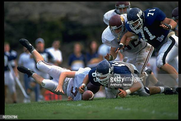 Ithaca Coll #69 Pete Quinn in action vs Springfield
