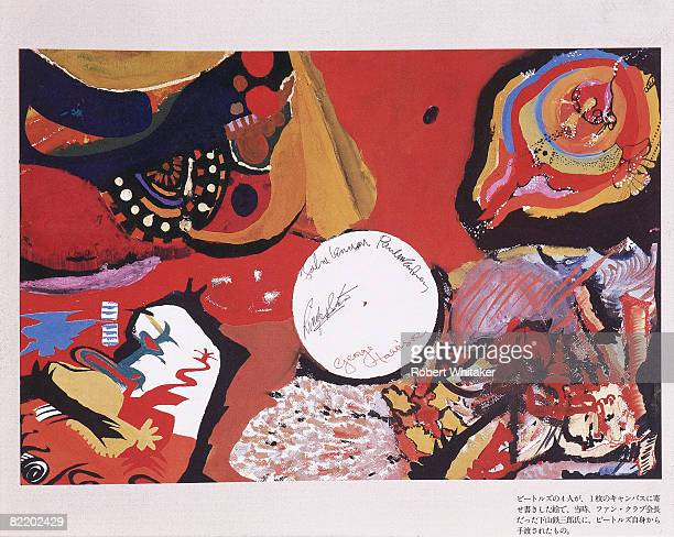 A collaborative painting made by all four Beatles to pass the time over two nights at the Tokyo Hilton during the Japanese leg of the group's final...