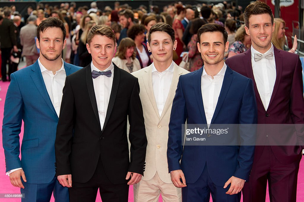 Collabro attends the UK Premiere of 'Walking On Sunshine' at Vue West End on June 11, 2014 in London, England.