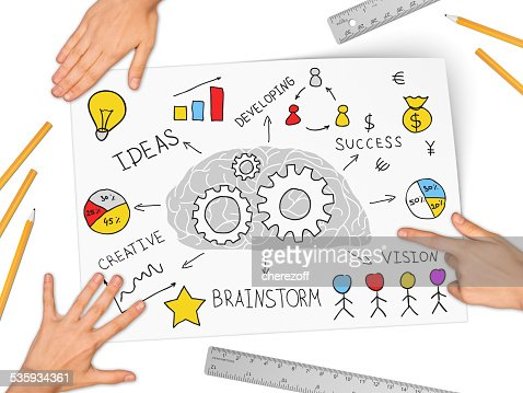 Collage expressing concept of business success : Stock Photo