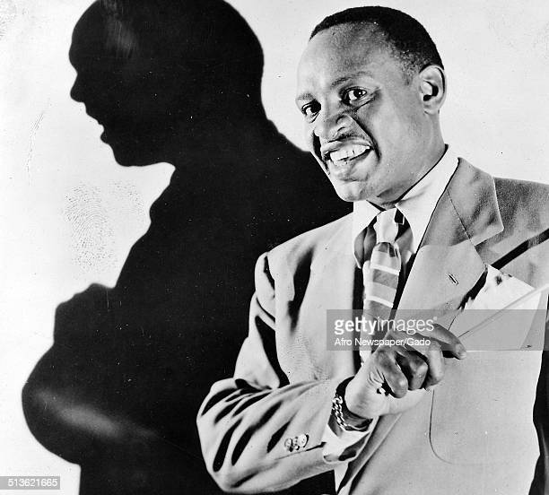 Collage of AfricanAmerican jazz vibraphonist pianist percussionist bandleader and actor Lionel Hampton New York City New York 1957