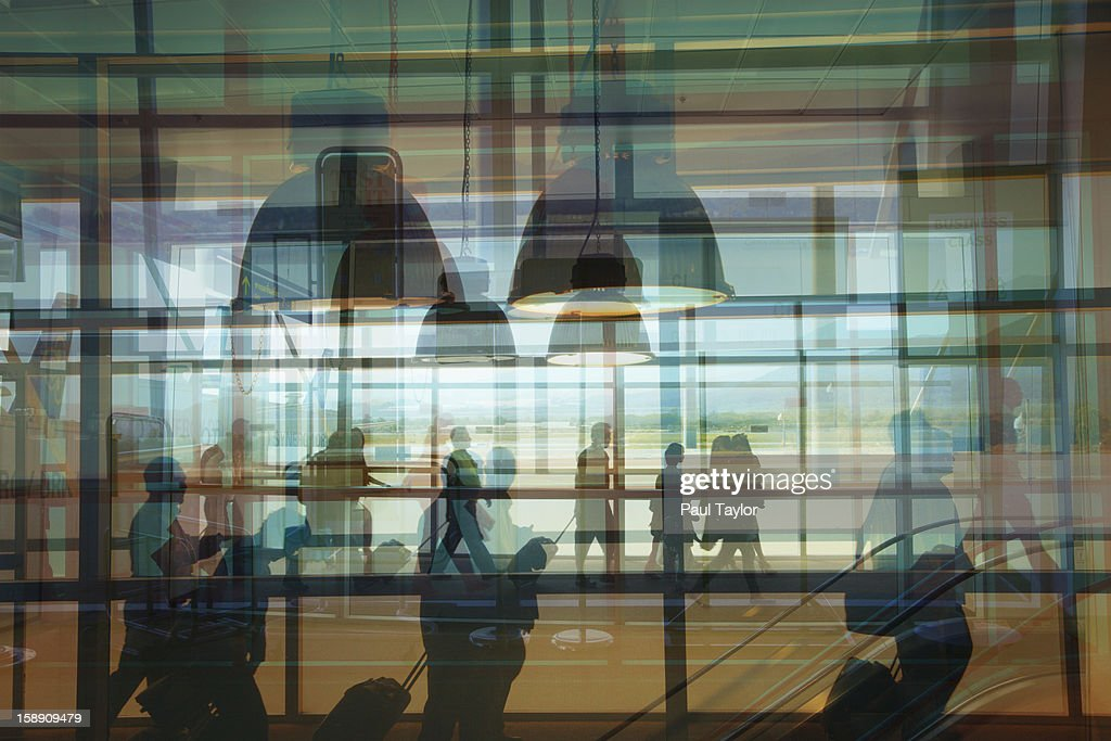 Collage of Airport : Stock Photo